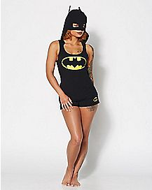 Hooded Batman Pajama Set