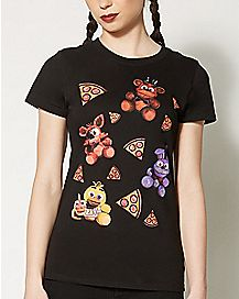 Pizza and Plush T Shirt - Five Nights at Freddy's