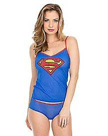 Superman DC Comics Tank and Panty Set