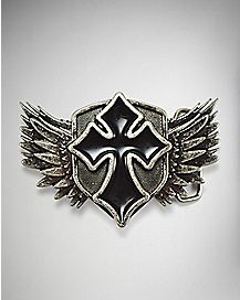 Winged Cross Belt Buckle