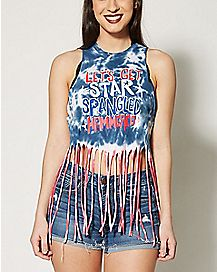 Tie Dye Let's Get Star Spangled Hammered Tank Top