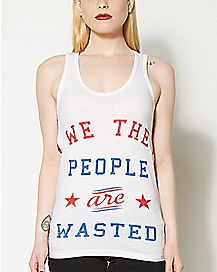 We The People USA Slashed Back Tank Top