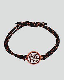 Dragon Ball Z Symbol Charm Cord Bracelet