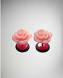 Pink Rose Fake Plug Set