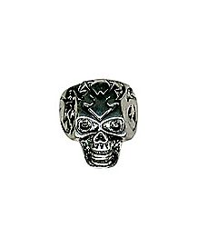 Etched Skull Ring