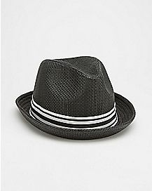 Black Stripe Fedora Hat