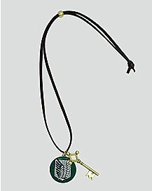 Scout Shield Key Attack On Titan Necklace