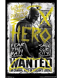 The Bat Batman V Superman Fear Poster - DC Comics