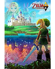 A Link Between Worlds Legend of Zelda Poster