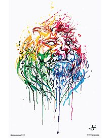 Paint Splatter Lion Poster
