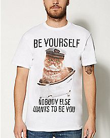 Be Yourself Cat T shirt