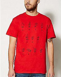 Sign Language Fuck Dat Shit T shirt