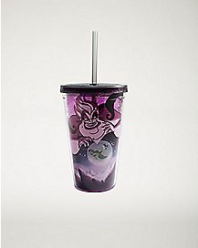 Glow In The Dark Ursula Cup With Straw 16 oz. - The Little Mermaid
