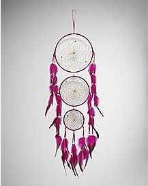 Three Tier Fuchsia Dream Catcher