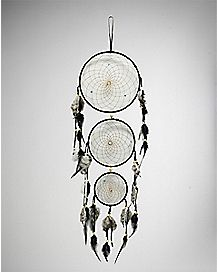 Three Tier Black White Dream Catcher