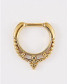 Beaded Clicker Septum Ring - 16 Gauge