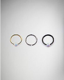 Seamless Captive Ring - 18 Gauge 3 Pack