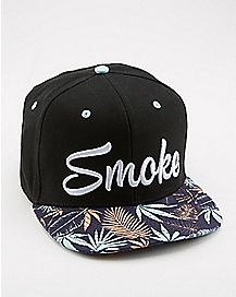 Smoke Tropical Snapback Hat