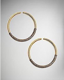 Black Coil Hoop Earrings