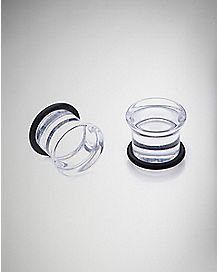 Clear Single Flare Plugs