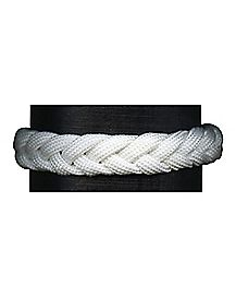 White Shoelace Braided Bracelet