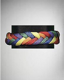 Rainbow Shoelace Braided Bracelet