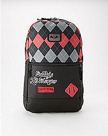 Argyle Harley Quinn Backpack