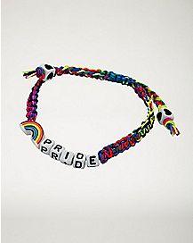 Rainbow Pride Rope Bracelet
