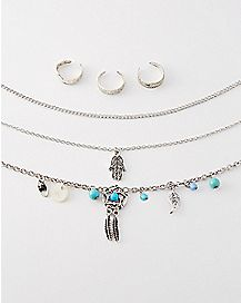 Dream Catcher Anklet and Toe Ring 6 Pack
