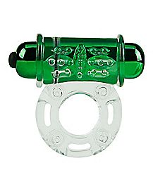 Ultra Power Vibrating Cock Ring Green - Hott Love Extreme
