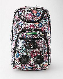 Pink Graffiti Audio Backpack