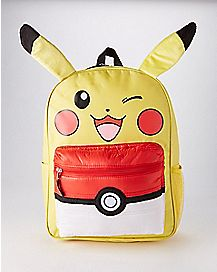 3D Puffed Pocket Pikachu Pokemon Backpack