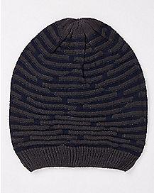 Textured Slouchy Beanie Hat