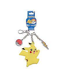 Pikachu Pokemon Dangle Charm Keychain