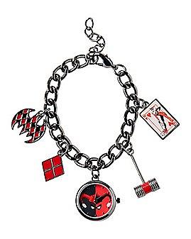 Harley Quinn Watch Charm Bracelet