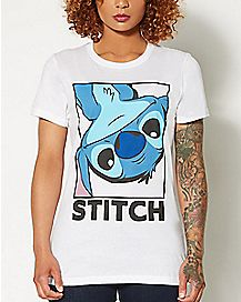 Stitch Upside Down T Shirt - Lilo & Stitch