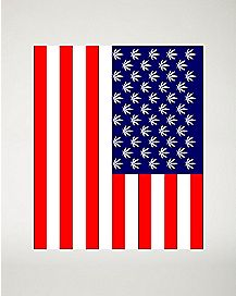 Leaf American Flag Fleece Blanket