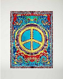 Peace Sign Fleece Blanket