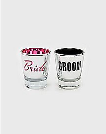 Bride And Groom Shot Glasses - 2 Pack