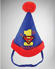 Superman 1st Birthday Party Baby Hat