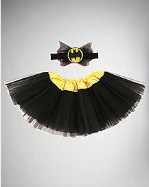 Batgirl Baby Tutu Headband Set