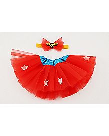 Wonder Woman Baby Tutu & Headband Set