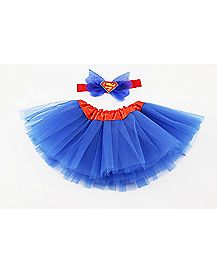 Supergirl Baby Tutu Headband Set