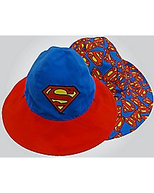 Reversible Superman Baby Bucket Hat
