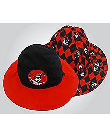 Reversible Harley Quinn Baby Bucket Hat