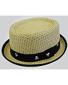 Skull Band Straw Hat