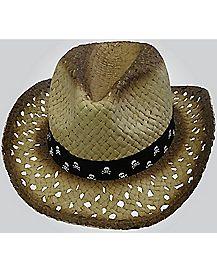 Skull Band Cowboy Hat