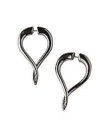Horn Front Back Earrings