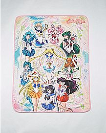 Group Sailor Moon Fleece Blanket