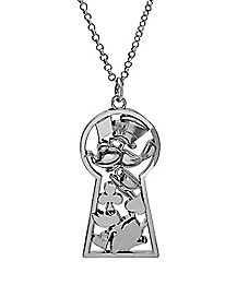 Key Hole Shaker Alice In Wonderland Necklace